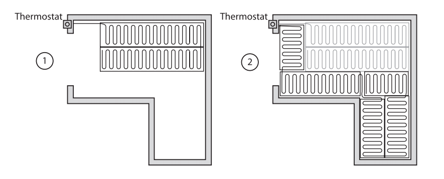 connect two mats to one thermostat